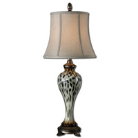 Uttermost Malawi 1 Light Table Lamp in Burnished Cheetah Print 29926