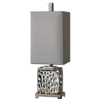 Uttermost 29927-1 Bashan 32 inch 100 watt Polished Nickel Table Lamp Portable Light