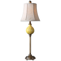 Uttermost Pratella Burnt Yellow Buffet Lamp in Burnt Yellow 29929