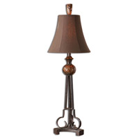 Uttermost Amarion Buffet Table Lamp in Lightly Distressed Bronze Leaf 29955