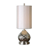 Uttermost Valpelline 1 Light Table Lamp in Smoke Gray 29969-1