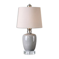 Uttermost Crackle Gray Table Lamps