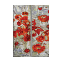 Uttermost Scarlet Poppies Set of 2 Floral Art 31201