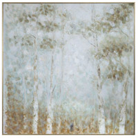 Cotton Woods 49 X 49 inch Hand Painted Canvas, Abstract Art