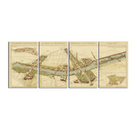 Uttermost 31502 Paris Map Wall Art thumb