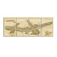 Uttermost Paris Map Set of 4 Wall Art 31502