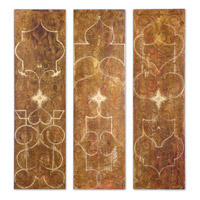 Uttermost Scrolled Panel I II III Set of 3 Art 32132