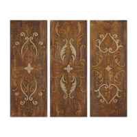Uttermost Elegant Swirl Panels Set of 3 Art 32169