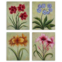 Uttermost Fun Time Florals Set of 4 Art 32207 photo thumbnail
