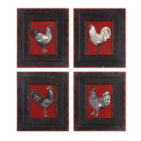 Uttermost Hens & Roosters Set of 4 Art 32504 photo thumbnail