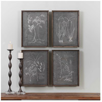Root Study Natural Brown Art, Set of 4