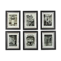Uttermost Paris Scene I II III IV V VI - Set of 6 Art 33430