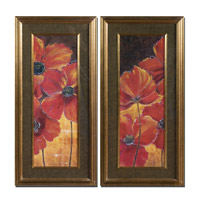 Uttermost Midnight Poppy Set of 2 Wall Art 33557