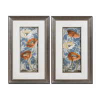 Uttermost Poppies De Bleu Set of 2 Wall Art 33562