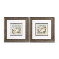 Uttermost Vintage Luxe Set of 2 Wall Art 33568