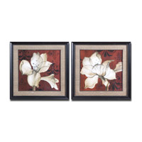 Uttermost Amaryllis On Red Set of 2 Wall Art 33575
