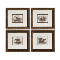 Uttermost Horses ArtSet of 4 33590
