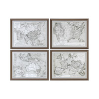 World Maps 28 X 22 inch Art Prints