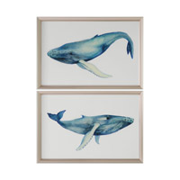 Uttermost The Whales Song Art in Silver Metal 33653