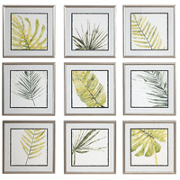 Verdant Impressions 18 X 18 inch Leaf Prints, Set of 9