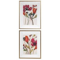 Vivid Arrangement 39 X 31 inch Floral Prints, Set of 2