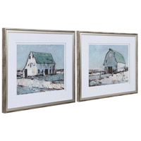 Plein Air Barns 34 X 28 inch Framed Prints, Set of 2