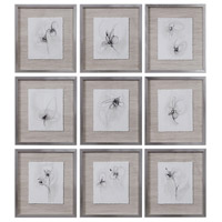 Neutral Floral Gestures 19 X 17 inch Prints, Set of 9