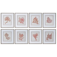 Sunrise Coral 20 X 18 inch Framed Prints, Set of 8