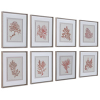 Uttermost 33692 Sunrise Coral 20 X 18 inch Framed Prints, Set of 8 33692_A.jpg thumb