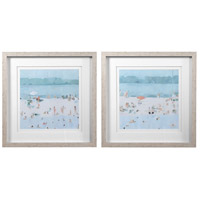 Sea Glass Sandbar 31 X 31 inch Framed Prints, Set of 2