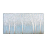 Uttermost 33701 Trees In The Mist 60 X 30 inch Hand Painted Art thumb