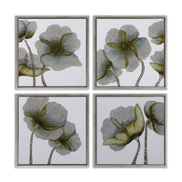 Uttermost Mini Floral Glow ArtSet of 4 34216