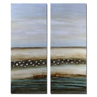 Uttermost Seaside Illusion Set of 2 Wall Art in Stretched Canvas 34239