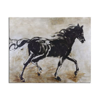 Uttermost Blacks Beauty Horse Art 34262
