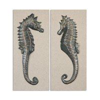 Uttermost Seahorses Set of 2 Wall Art in Silver 34293