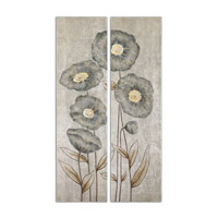 Uttermost Graceful Flowers Set of 2 Hand Painted Art 34296