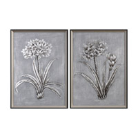 Uttermost Contemporary Botanicals Art in Silver 34358