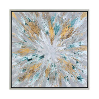 Exploding Star Silver Art, Hand Painted, Abstract