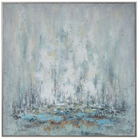 Ghost Ship 37 X 37 inch Hand Painted Canvas, Abstract Art