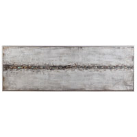 Cracked Sidewalk 61 X 21 inch Hand Painted Canvas, Abstract Art