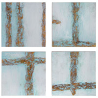 Cross Roads 20 X 20 inch Hand Painted Canvases, Contemporary Art, Set of 4