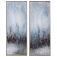 Uttermost 34376 Rainy Days 33 X 13 inch Abstract Art, Set of 2 thumb