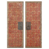 Uttermost Red Door Panels Set of 2 Art 35002