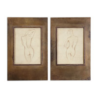 Uttermost Bronze Figures Set of 2 Framed Art 35236