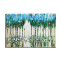 Uttermost 35301 Trees In The Mist Landscape Wall Art thumb