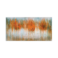 Autumn Waves Wood Hand Painted Art
