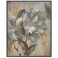 Uttermost 35330 Dazzling Black Satin Floral Wall Art
