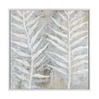Winter White White Art, Hand Painted, Floral