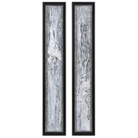 Uttermost 35370 Silver Lining 46 X 8 inch Abstract Art, Set of 2 thumb