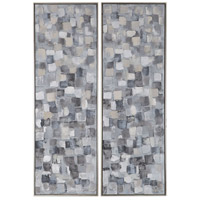 Uttermost 36054 Cubist 61 X 21 inch Hand Painted Canvases, Contemporary Art, Set of 2